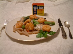 Good Friends: Steamed shrimp & Old Bay seasoning