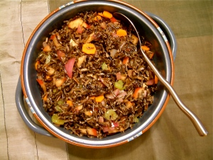 Wild Rice and Fruit Salad