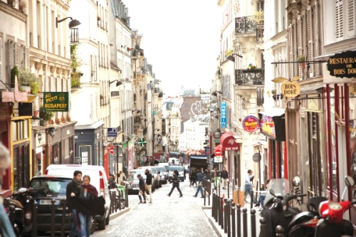 "A street in Paris from ""Cowgirl Chef"" by Ellise Pierce (Steve Legato/Courtesy of Running Press)."