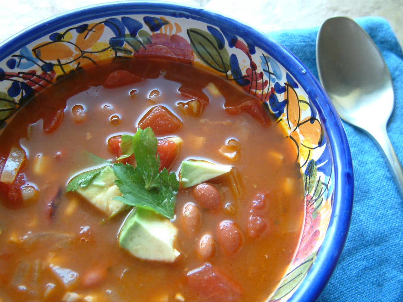 ... accents in savory dishes such as this Mexican corn and bean soup