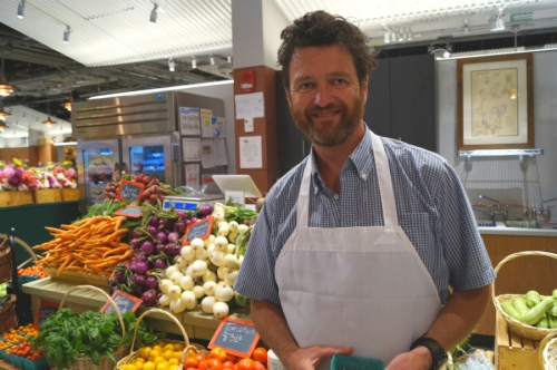 Andrew Pollock, owner of Silverbrook Farm in Dartmouth, Mass., is thrilled to be at Boston Public Market even though Silverbrook already has a presence at other farmers markets. They have expanded their acreage to prepare for the winter growing season.